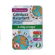 Géniusz Kvartett: A világ országai - ismeretterjesztő kártyajáték
