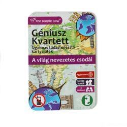 Géniusz Kvartett: A világ nevezetes csodái - ismeretterjesztő kártyajáték