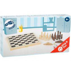 Sakk és Backgammon 2 az 1-ben fából 29cm