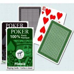 Piatnik 100% plasztik póker kártya normál index, 1*55 lapos