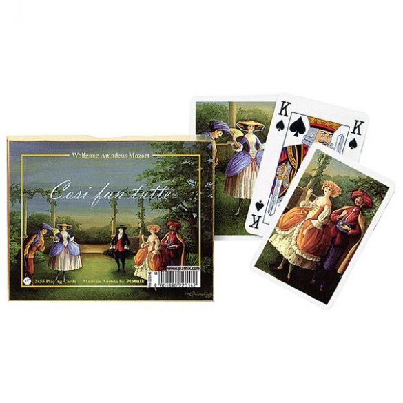 Mozart: Cosi fan tutte 2x55 lapos luxus römikártya - Piatnik