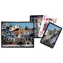 Hundertwasser-ház 2x55 lapos luxus römikártya - Piatnik