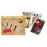 Toulouse Lautrec 2x55 lapos luxus römikártya - Piatnik