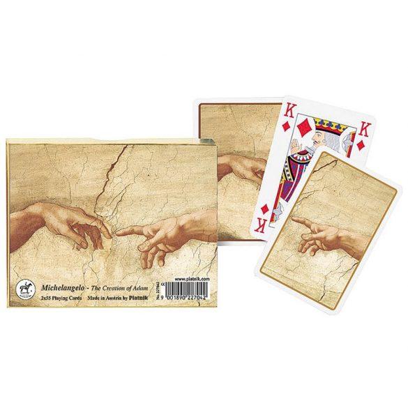 Michelangelo: Ádám teremtése 2x55 lapos luxus römikártya - Piatnik