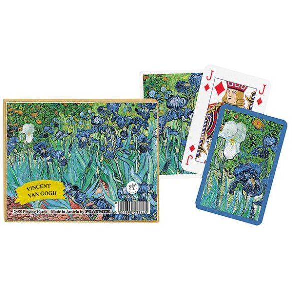 Vincent van Gogh: Íriszek 2x55 lapos luxus römikártya - Piatnik
