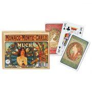 Alfons Mucha 2x55 lapos luxus römikártya - Piatnik