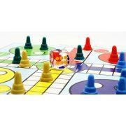 Backgammon, 35x23 cm-es világosbarna fa dobozban, fa korongokkal