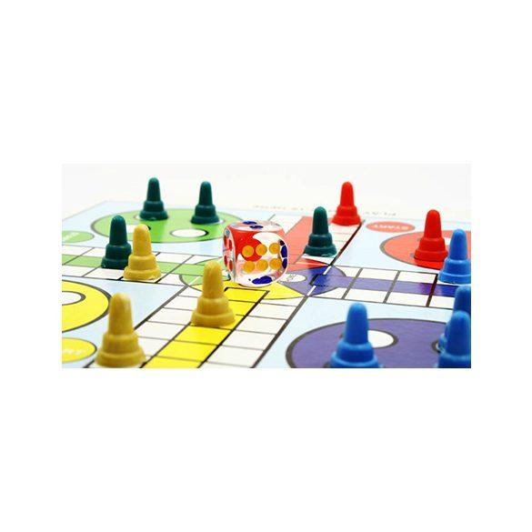 Backgammon 46x30 cm-es műbőr kofferban