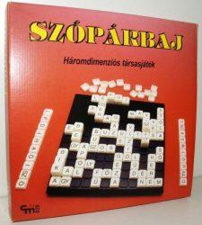 Szópárbaj társasjáték - 3 dimenziós szókirakó