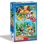 Puzzle 2x20 db-os - Mickey egér kirándul - Clementoni (07006)