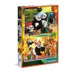 Puzzle 2x20 db-os - Kung Fu Panda 3. - Clementoni (07026)