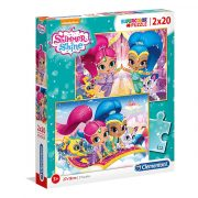 Puzzle 2x20 db-os - Shimmer & Shine - Clementoni (07028)