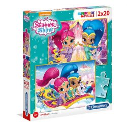 Puzzle 2x20 db-os - Shimmer & Shine - Clementoni (07028)