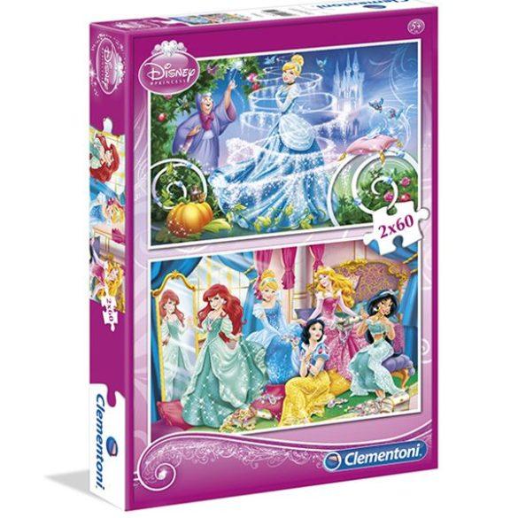 Puzzle 2x60 db-os - Hamupipőke és Disney Hercegnők - Clementoni (07115)