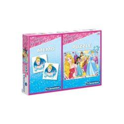 Puzzle 60 db-os és memóriajáték - Disney hercegnők - Clementoni (07915)