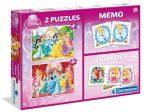 Disney Hercegnők 2x30 db puzzle, memória- és dominójáték  Clementoni (08203)