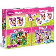 Puzzle 2x30 db, memória- és dominójáték - Minnie egér - Clementoni (08205)