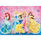 Puzzle 104 db-os - Disney hercegnők puzzle ékkövekkel - Clementoni (20089)