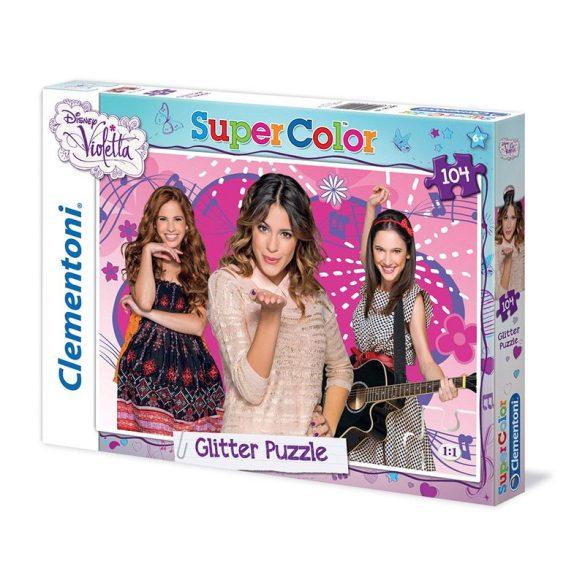 Puzzle 104 db-os - Violetta csillámos puzzle - Clementoni (20094)