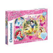 Puzzle 104 db-os - Hercegnők csillámos puzzle - Clementoni (20134)