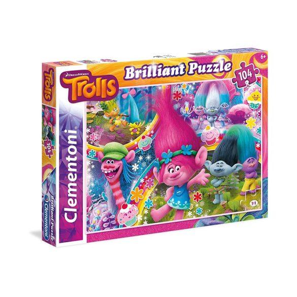 Puzzle 104 db-os - Trollok ragyogó puzzle - Clementoni (20144)