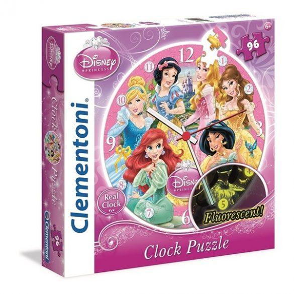Puzzle 96 db-os Disney Hercegnők óra puzzle - Clementoni (23020)
