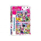 2 x 20 db-os puzzle - Minnie boldog pillanatai - Clementoni 24750