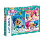 Puzzle 3x48 db-os - Shimmer & Shine - Clementoni (25218)