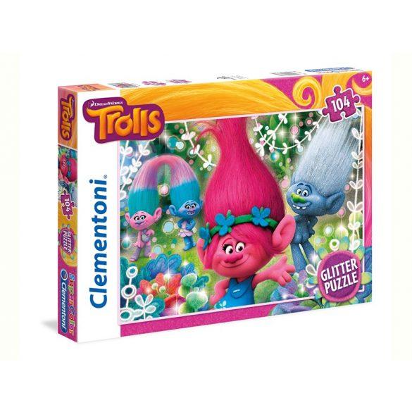 Puzzle 104 db-os Trollok Super Color csillámos puzzle - Clementoni (27249)