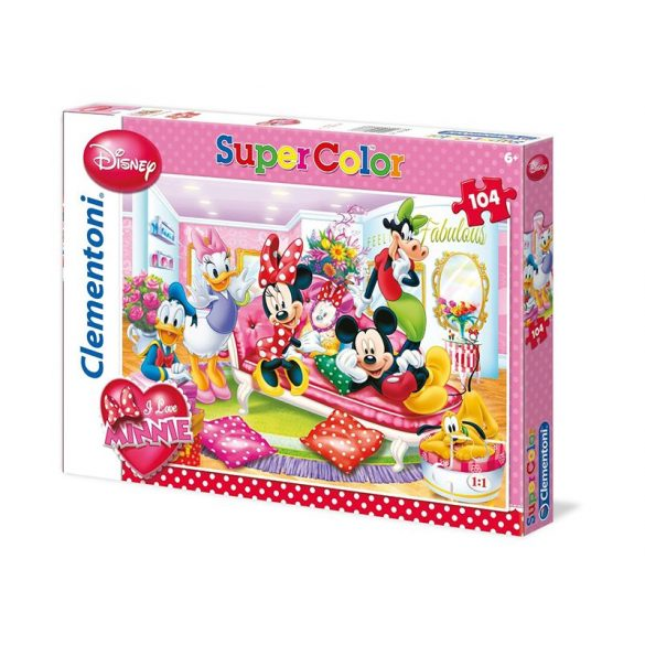 Puzzle 104 db-os - I Love Minnie - Clementoni (27888)