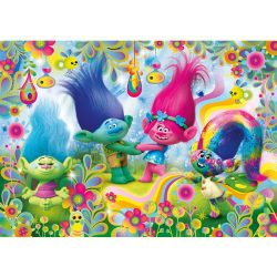 Puzzle 104 db-os - Trollok: Szivárvány Super Color puzzle - Clementoni (27967)