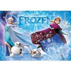 Puzzle 104 db-os - Jégvarázs: Anna, Elsa, Olaf csillámos puzzle - Clementoni (29712)