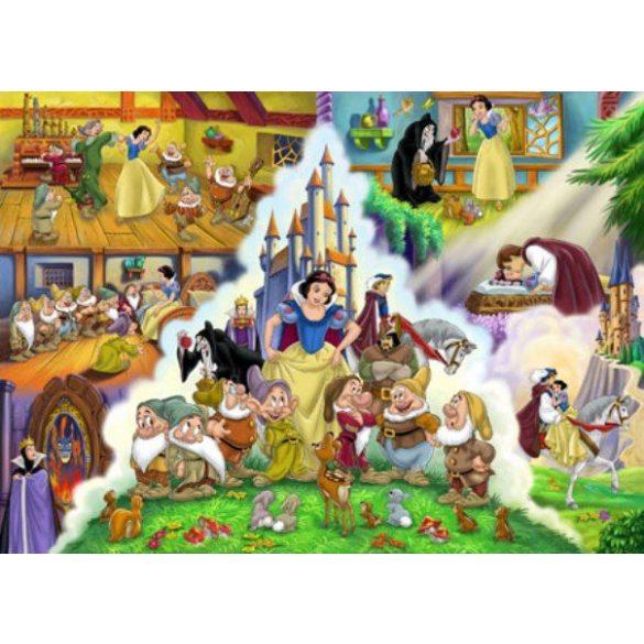 Puzzle 350 db-os Hófehérke és a hét törpe - Clementoni