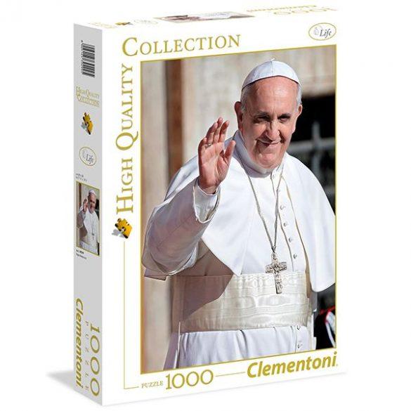 Puzzle 1000 db-os - Ferenc pápa - Clementoni (39299)