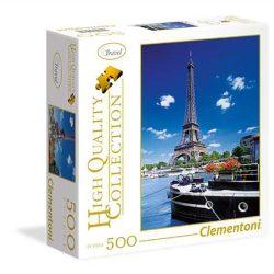 Clementoni 500 db-os puzzle négyzet alakú dobozban - Romantikus sétány Párizsban 95979