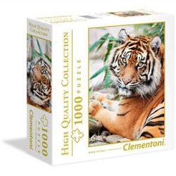 Clementoni 1000 db-os puzzle négyzet alakú dobozban - Szumátrai tigris 96503