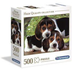 Clementoni 500 db-os puzzle négyzet alakú dobozban - Beagle kiskutyák 97323