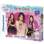 Disney: Violetta csillámos puzzle - 104 darabos - Clementoni - 20094
