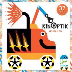 Djeco 37 db-os Optikai puzzle - Kinoptik Véhicles 05601