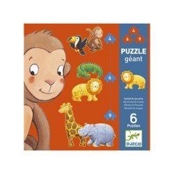 Djeco 19 db-os Óriás puzzle - Marmoset és barátai 07114