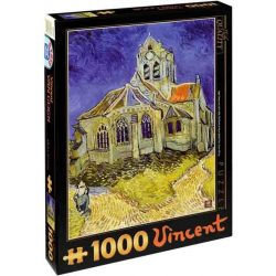 D-Toys 1000 db-os puzzle - Van Gogh: The Church at Auvers - 70173