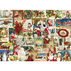 EuroGraphics 1000 db-os Puzzle - Vintage Christmas Cards - 6000-0784