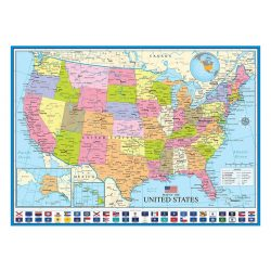 Eurographics 1000 db-os Puzzle - Map of the US - 6000-0788