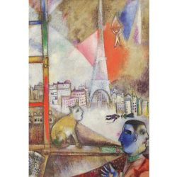 Eurographics 1000 db-os Puzzle - Marc Chagall - Paris Through the Window (Detail) - 6000-0853