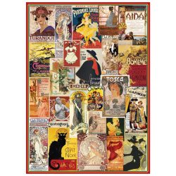 Eurographics 1000 db-os Puzzle - Theater & Opera Vintage Posters - 6000-0935
