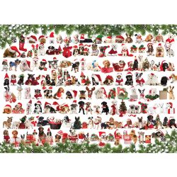 EuroGraphics 1000 db-os Puzzle - Holiday Dogs - 6000-0939