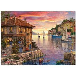 EuroGraphics 1000 db-os Puzzle - Dominic Davison - Mediterranean Harbor - 6000-0962