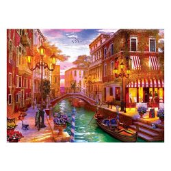Eurographics 1000 db-os Puzzle - Dominic Davison - Sunset over Venice - 6000-5353