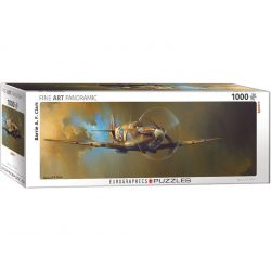 Eurographics 1000 db-os panoráma puzzle - Barrie A.F. Clark: Spitfire  - 6010-0952