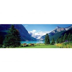 Eurographics 1000 db-os panoráma puzzle - Lake Louise, Canadian Rockies 6010-1456